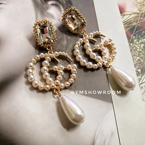 206806355 YMShowroom Jewelry | New In Pearl Gg Drop Earnings | Poshmark